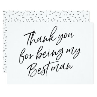 "Chic ""Thank you for being my best man"" Card"