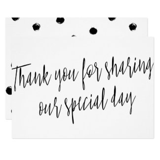 "Chic ""Thank you for sharing our special day"" Card"