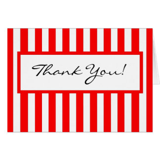CHIC THANK YOU NOTE_01 RED/WHITE STRIPES CARD