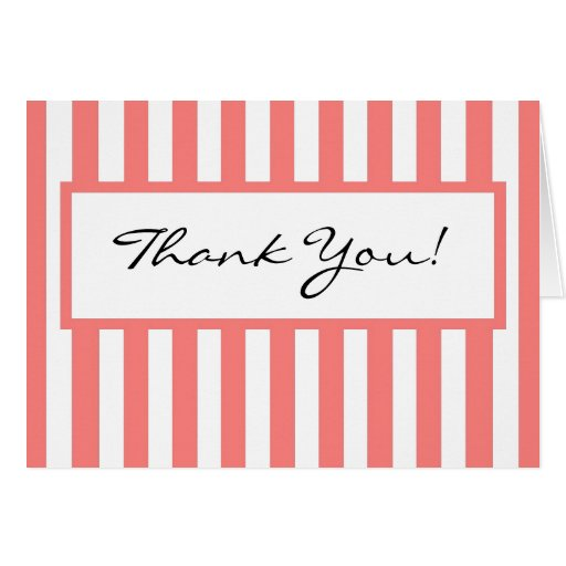 CHIC THANK YOU NOTE 11 PINK/ HITE GREETING CARDS