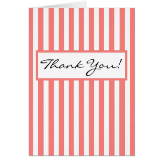 CHIC THANK YOU NOTE 11 PINK/ HITE CARD