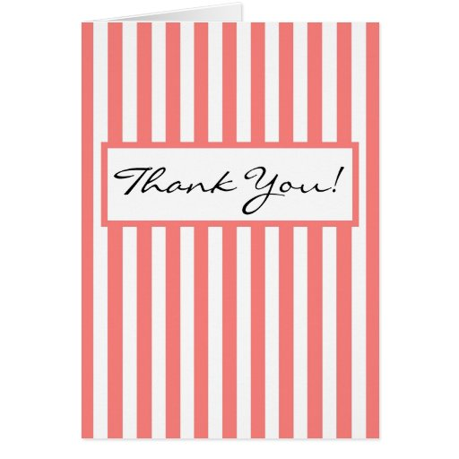 CHIC THANK YOU NOTE 11 PINK/ HITE CARDS