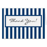 CHIC THANK YOU NOTE_ 158 NAVY/SHITE STRIPES STATIONERY NOTE CARD