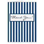 CHIC THANK YOU NOTE 158 NAVY/WHITE STRIPES GREETING CARD