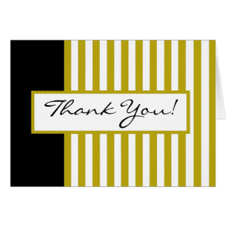 CHIC THANK YOU NOTE_ 191 GOLDEN YELLOW/WHITE/BLACK CARD