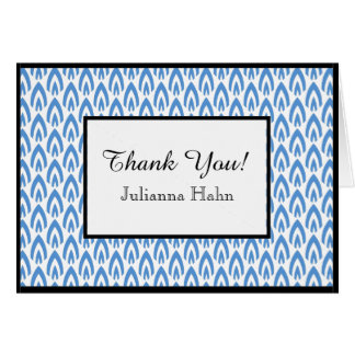 CHIC THANK YOU NOTE_BLUE/WHITE/BLACK FLAME CARD