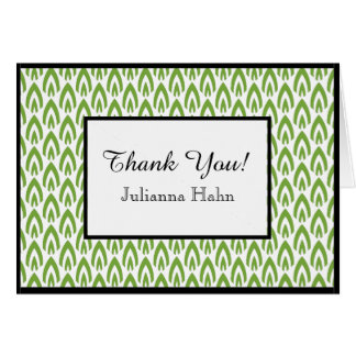 CHIC THANK YOU NOTE_GREEN/WHITE/BLACK FLAME CARD