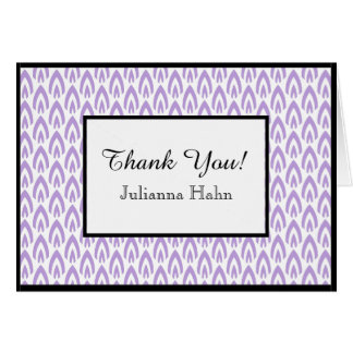 CHIC THANK YOU NOTE_LILAC/WHITE/BLACK FLAME CARD