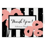 CHIC THANK YOU NOTE_MOD PEACH POPPIES ON STRIPES CARD