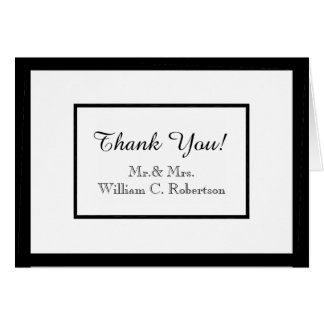 CHIC THANK YOU NOTE_Mr & Mrs_WHITE/BLACK DIY COLOR Card