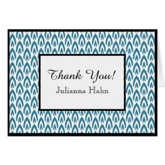 CHIC THANK YOU NOTE_PEACOCK/WHITE/BLACK FLAME CARD