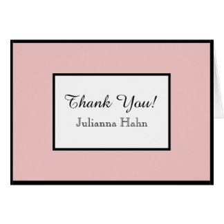 CHIC THANK YOU NOTE_PINK/WHITE/BLACK DIY COLORS CARD