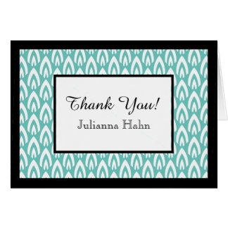 CHIC THANK YOU NOTE_WHITE/BLACK/AQUA FLAME CARD
