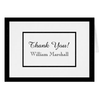 CHIC THANK YOU NOTE_WHITE/BLACK DIY COLOR CARD