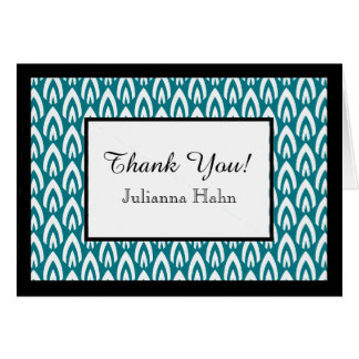 CHIC THANK YOU NOTE_WHITE/BLACK/TURQUOISE FLAME CARD