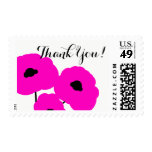 CHIC THANK YOU STAMP_MOD  FLORAL PINK POPPIES POSTAGE