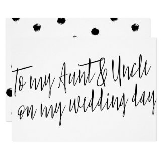 """Chic """"To my aunt and uncle my wedding day"""" Card"""