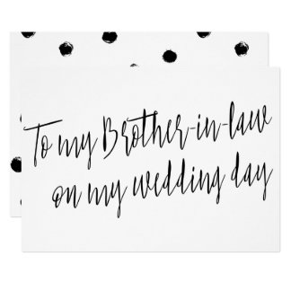"""Chic """"To my brother-in-law on my wedding day"""" Card"""