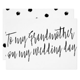 "Chic ""To my grandmother on my wedding day"" Card"