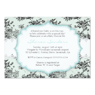 CHIC TOILE Baby Shower Invitation  - Blue