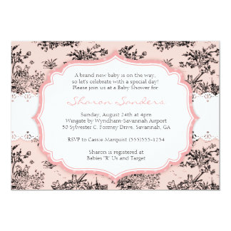 CHIC TOILE Baby Shower Invitation  - Pink