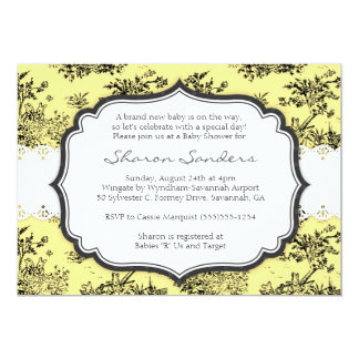 CHIC TOILE Baby Shower Invitation  - Yellow