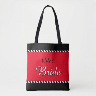 CHIC TOTE_BRIDE_BRIDE_RED/BLACK/WHITE TOTE BAG