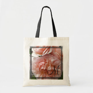 CHIC TOTE_PEACH EVELYN ROSE TOTE BAG