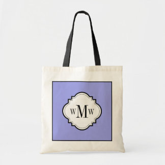 CHIC TOTE_PERIWINKLE/WHITE/BLACK BUDGET TOTE BAG
