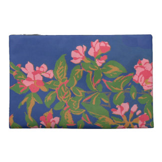 Chic Travel Accessories Bag, Pink Japonica