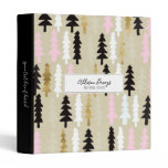 Chic Tree Pattern Personalized Binder