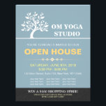 """Chic Tree Yoga Instructor Therapy Salon Open House Flyer<br><div class=""""desc"""">Elegant Classy Tree YOGA Massage Therapy Studio / Beauty Salon Open House Flyer Template. Ideal for YOGA Meditation Instructor / Massage Therapy / Makeup Beauty Salon / Hair Stylist / Hairdresser,  Stylist,  Cosmetologist,  Beautician and Creative Professionals. Easy to customize with your own text and images - make it yours.</div>"""