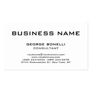 Chic Trendy Black White Classical Business Card