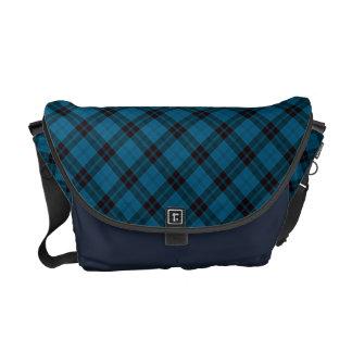 Chic & Trendy Blue Tartan Plaid Patten Courier Bag