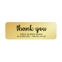 Chic,Trendy Gold Thank You Return Address Labels