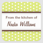 Chic trendy lime green polka dots from the kitchen sticker