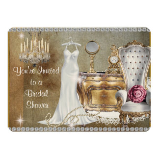 CHIC & TRENDY VINTAGE  BRIDAL SHOWER INVITATION