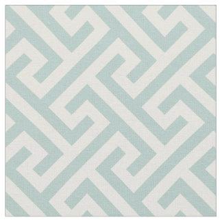 Chic turquoise greek key geometric pattern fabric