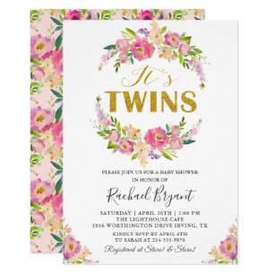 Twins Baby Shower Invitations Zazzle