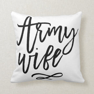 Chic Typography - Army Wife Throw Pillow