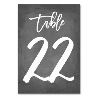 Chic Typography Chalkboard Table Number | Table 22
