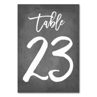 Chic Typography Chalkboard Table Number | Table 23