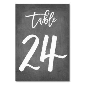 Chic Typography Chalkboard Table Number | Table 24