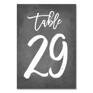 Chic Typography Chalkboard Table Number | Table 29