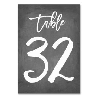 Chic Typography Chalkboard Table Number | Table 32