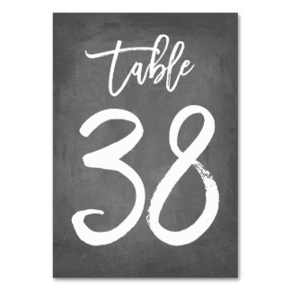 Chic Typography Chalkboard Table Number | Table 38