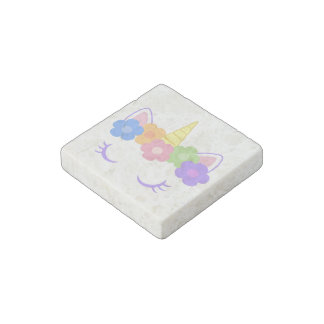Chic Unicorn Stone Magnet
