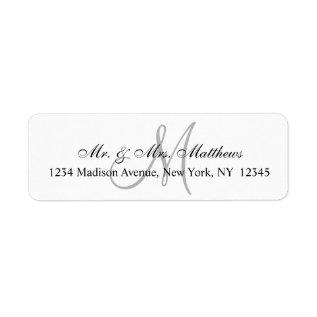 Chic Unique Monogram Wedding Label at Zazzle