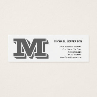 Chic Unique Monogram White Business Card