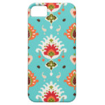 Chic vibrant turquoise  tribal ikat print iPhone 5 cover
